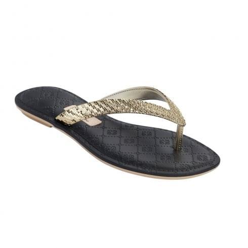 Grendha Sense Womens Gold Flip Flops