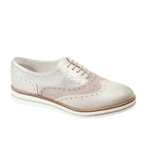 Dubarry Womens Hattie Casual Lace Up Grey Leather Brogues Shoe
