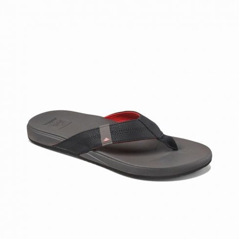 Reef Mens Cushion Bounce Phantom Flip Flops Sandals - Black Grey