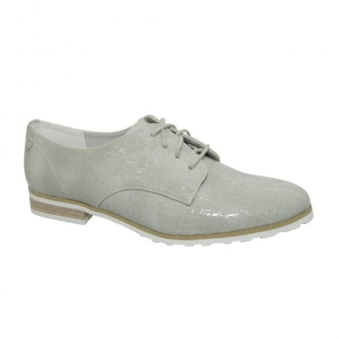 Fabulous Fabs Womens Marcella Lace Up Shoes - Silver
