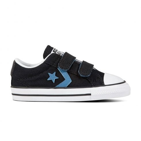 Converse Kids Star Player 2V Ox Velcro Sneakers - Black