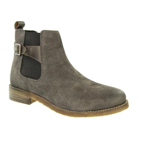 Adesso Womens Zoe Suede Chelsea Ankle Boots - Grey A4528