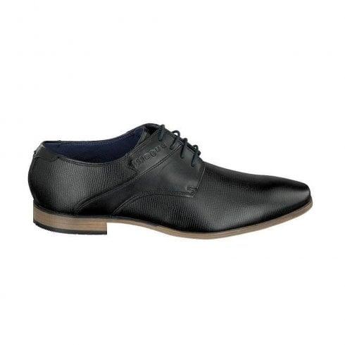 Bugatti Mens Smart Black Leather Dressy Shoe 312-42003