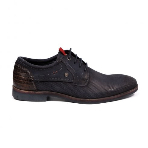 S.Oliver Mens Leather Laced Smart Shoes - Navy