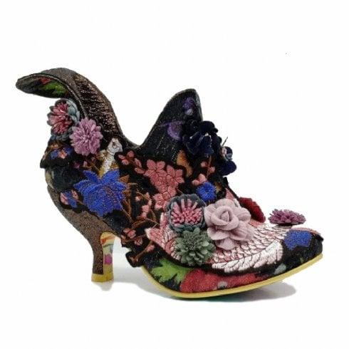 Irregular Choice Bloomchester Heeled Boots - Black Multi