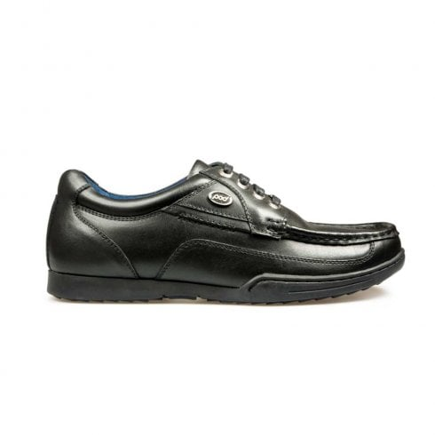 POD Panter Lace Up Back to School Leather Shoes - Black