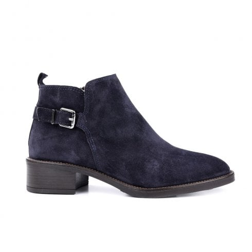 Alpe Giselle Suede Ankle Boot - Navy