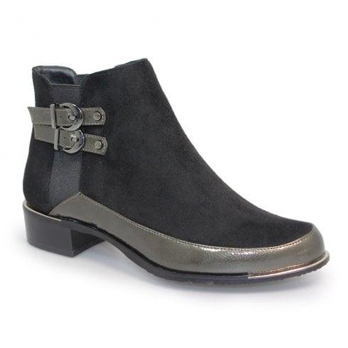 Lunar Lunar Pippa Velvet Ankle Boots - Black