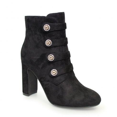 Lunar Lunar Campari Military Style High Heeled Ankle Boots - Black