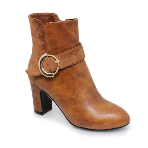 Lunar Lunar Matilda Heeled Fashion Ankle Boots - Tan