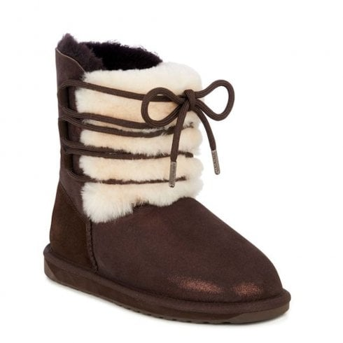 Emu Australia EMU Sorby Double Face Sheepskin Boots - Chocolate Metallic
