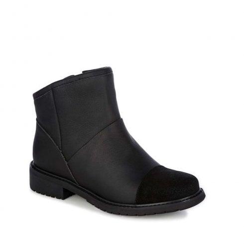 Emu Australia EMU Pinjarra Waterproof Pull Up Leather Boots - Black