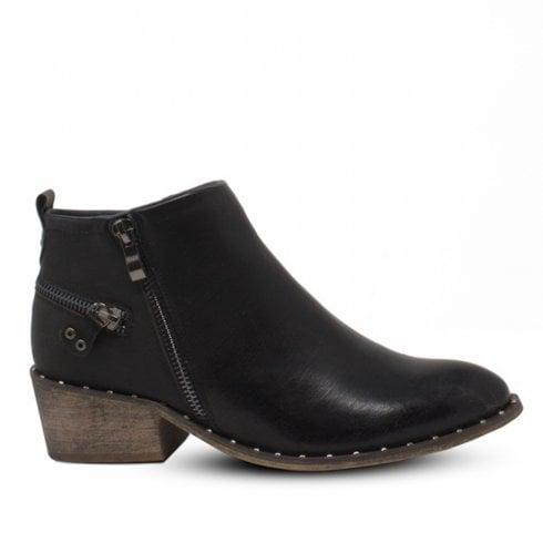 Escape Shoes Escape Womens Gala Low Cut Ankle Boots - Black