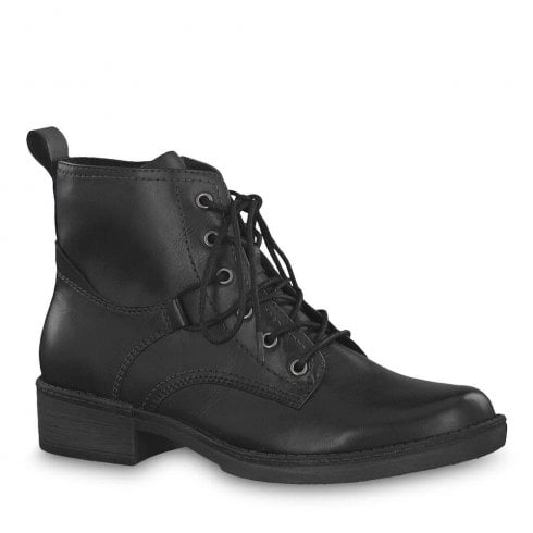 Tamaris Hayden Black Ankle Lace Up Boots 25116-21   Millars Shoe Store d13d7ce70c75