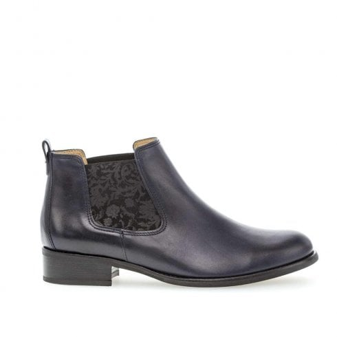Gabor Smooth Leather Chelsea Boots - Blue
