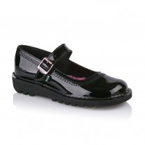 Girls Kick Bar Patent Strap Shoe