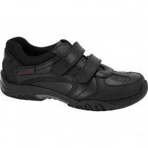 Hush Puppies Jezza School Shoe - Boys Velcro