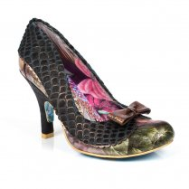 Irregular Choice Sole Survivor Mid Heels - Black
