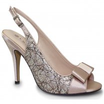 Lunar Calisto Heeled Sandals - FLR344 - Nude