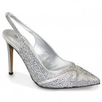 Lunar Davinia Diamante Heeled Sandals - FLR345 - Silver