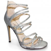 Lunar Courtney Heeled Sandals - FLR349 - Silver