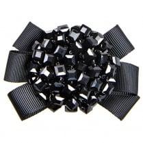 Van Dal Starburst Grosgrain Beaded Shoe Clips - Black
