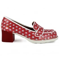Art Womens Bristol Fantasy Heeled Loafers - 0079 - Red/White