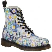 Dr Martens Pascal Floral Ankle Boots - Purple- 21088500