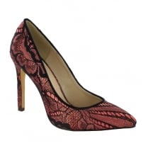 Pacomena Cherry Pointed Court Heels - 070590R77