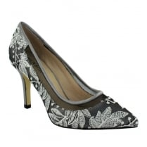 Menbur Pearl/Grey Pointed Court Heels - 06687X