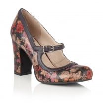 Lotus Hallmark Jasmyn Purple Mary Jane Heels - 60002