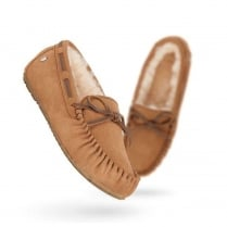 Emu Amity Sheepskin Moccasin Slipper - Chestnut - W10555