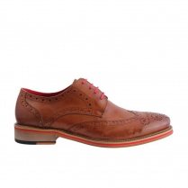 Morgan & Co Laced Brogue Mens Shoes - Tan - MGN0273