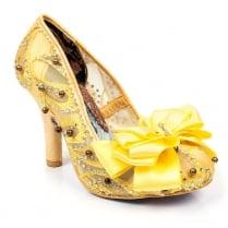 Irregular Choice Ascot Yellow Heels