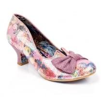 Irregular Choice Dazzle Razzle Mid Heels - Pink Metallic