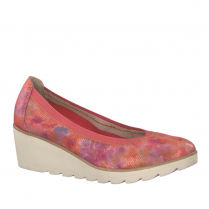 Marco Tozzi Wedged Premio Shoes - Coral Multi