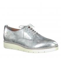 Tamaris Womens Metallic Brogues Shoes - Silver - 23303-28
