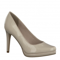Tamaris Womens Patent Court Heels - Cream - 22448-28 452