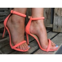 Millie & Co Barely There Heeled Sandal - Coral