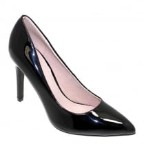 Lunar Womens Powell Pointed High Heels - Black