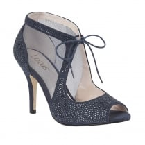 Lotus Vanille Mesh Diamante Shoes - Navy - 50719