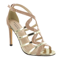 Menbur Womens Luanda Nude/Gold High Heels Sandals