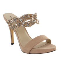 Menbur Nude Mule Heeled Sandals