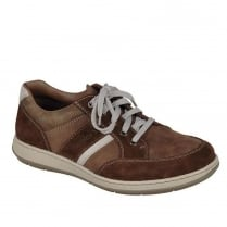 Rieker Mens Lace Up Brown Casual Leather Shoes