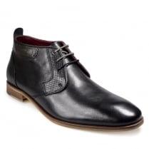 Pod Mens Fresno Black Lace Up Boots