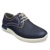 Pod Mens Paulo Navy Trainer Casual Shoes
