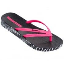 Ipanema Bossa Soft Black/Pink Womens Flip Flops