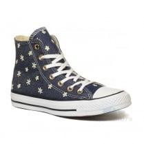 Converse Womens All Star Daisy Navy Denim Hi Sneakers