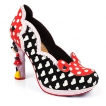 Irregular Choice Disney Minnie Mouse Black Red