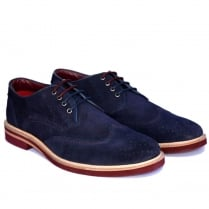Lambretta Henry Suede Navy Mens Brogue